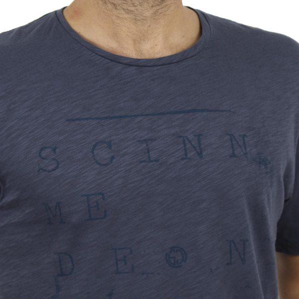 Κοντομάνικη Μπλούζα T-Shirt SCINN ST008 σκούρο Μπλε
