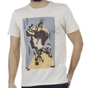 Κοντομάνικη Μπλούζα T-Shirt SCINN ST028 BEIGE