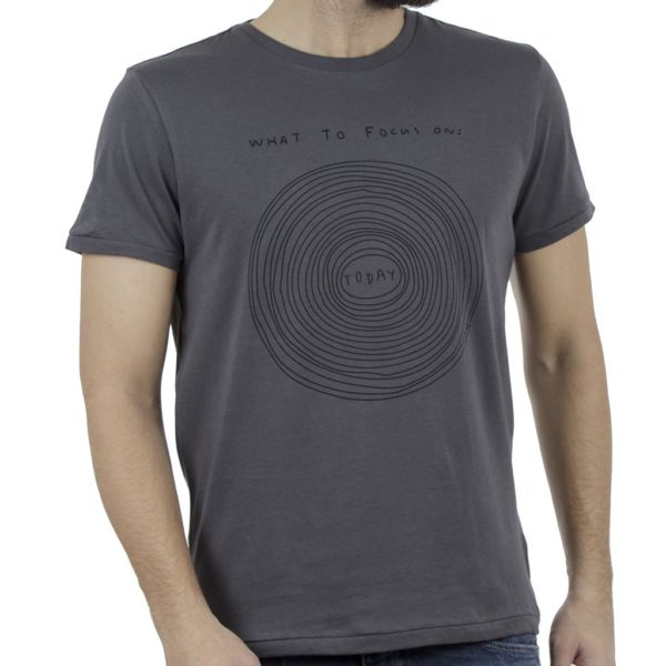 Κοντομάνικη Μπλούζα T-Shirt SCINN ST029 MAGNET Ανθρακί
