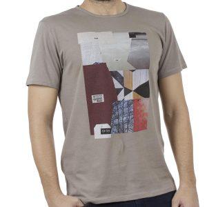 Κοντομάνικη Μπλούζα T-Shirt SCINN ST034 FUNGI Εκρού