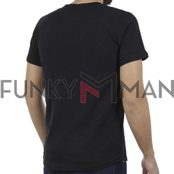 Κοντομάνικη Μπλούζα T-Shirt SCINN ST037 Μαύρο