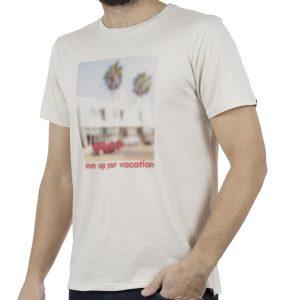Κοντομάνικη Μπλούζα T-Shirt SCINN ST039 BEIGE
