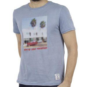 Κοντομάνικη Μπλούζα T-Shirt SCINN ST039 FOAM Sky Blue