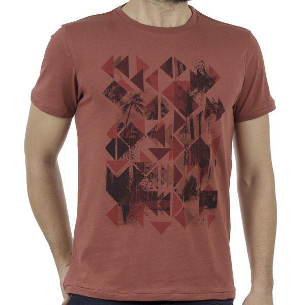 Κοντομάνικη Μπλούζα T-Shirt SCINN ST040 SIENNA Μπορντό