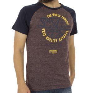 Κοντομάνικη Μπλούζα T-Shirt SPLENDID 39-206-004 Μπορντό