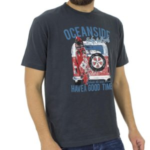 Κοντομάνικη Μπλούζα T-Shirt START CARAG 55-211-18N Ανθρακί