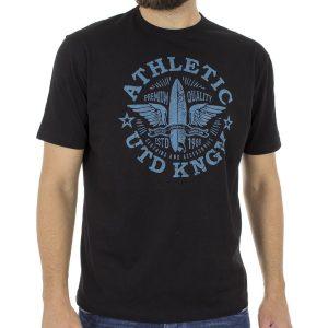 Κοντομάνικη Μπλούζα T-Shirt START CARAG 55-233-18N Μαύρο