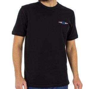 Κοντομάνικη Μπλούζα T-Shirt START CARAG 99-222-18N Μαύρο