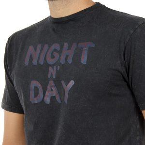 T-shirt Μπλούζα DOUBLE TS-75 Ανθρακί