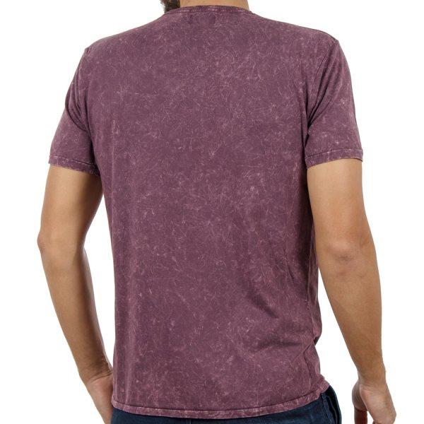 T-shirt Μπλούζα DOUBLE TS-75 σκούρο Μωβ