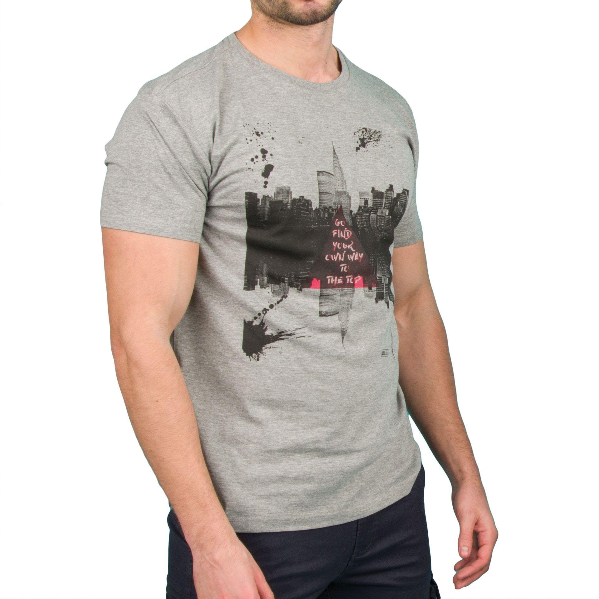 Ανδρική μπλούζα T-Shirt Double TS-36 Γκρι