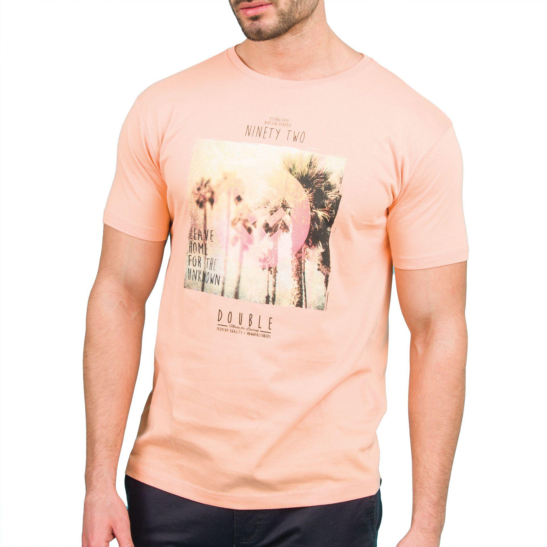 Ανδρική μπλούζα T-Shirt Double TS-36 Κοραλί