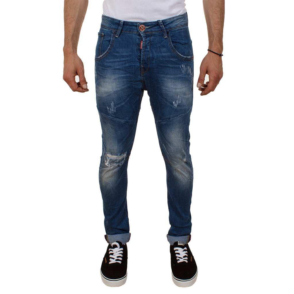 Τζιν buggy Παντελόνι Damaged jeans D12 slim