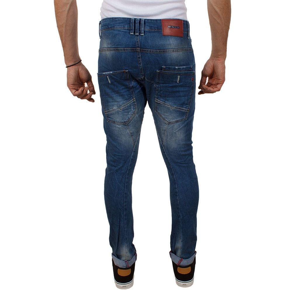 a7a821acda05 Τζιν Buggy Παντελόνι Damaged Jeans D12 slim Μπλε