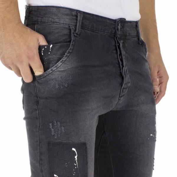 Jean Παντελόνι με Λάστιχα Back2jeans M69 slim ΜαύροJean Παντελόνι με Λάστιχα Back2jeans M69 slim Μαύρο