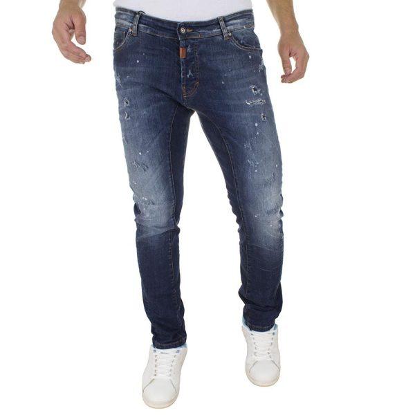Τζιν Παντελόνι COVER Jeans BIKER 7741 Μπλε
