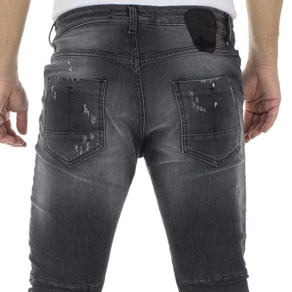 Τζιν Παντελόνι COVER Jeans BIKER 9741 Μαύρο