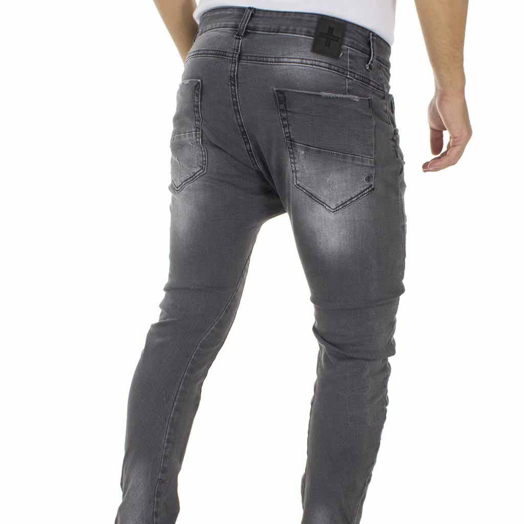 aabae639345 Τζιν Παντελόνι DAMAGED Jeans D71A boyfriend σκούρο Γκρι | FUNKYMAN ...