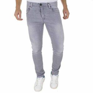 Τζιν Παντελόνι DAMAGED Jeans D5B slim basic Γκρι