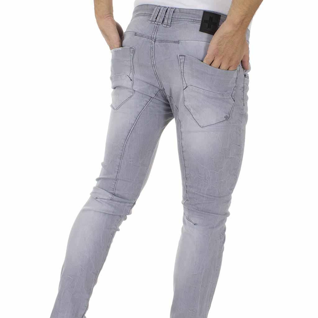 14a8c3475c8a Τζιν Παντελόνι DAMAGED Jeans D5B slim basic Γκρι