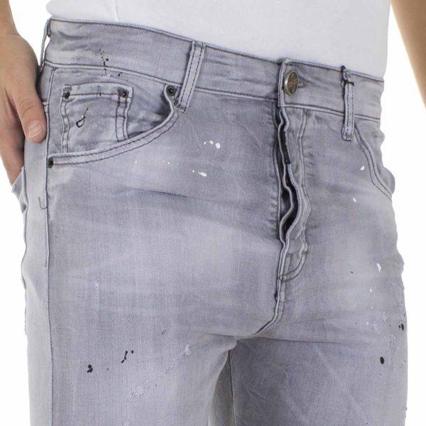 Τζιν Παντελόνι DAMAGED Jeans D90 twist Γκρι