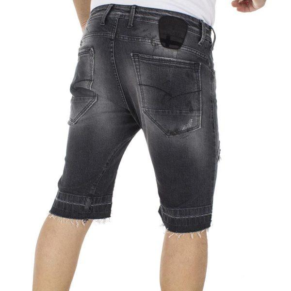 Jean Βερμούδα COVER Jeans VRIDDICK-5797 Μαύρο