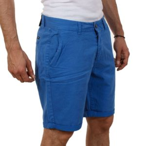 Βαμβακερή Βερμούδα Chinos FUNKY BUDDHA FBM02-3115 Electric Blue