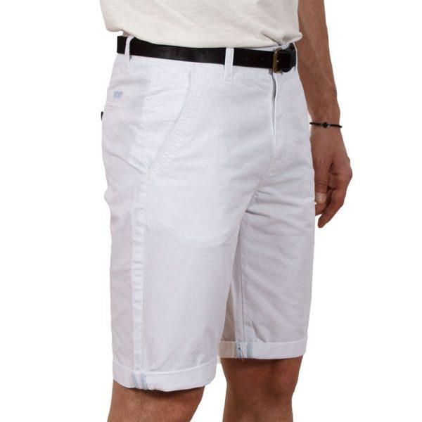 Βαμβακερή Βερμούδα Chinos VICTORY Monet Λευκό