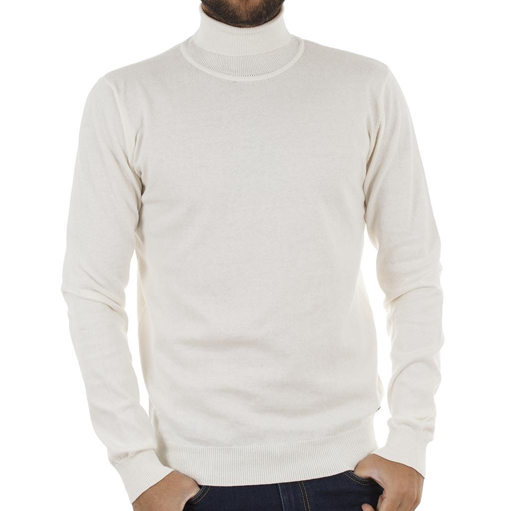 26d0c4089e85 Ζιβάγκο Πλεκτή Μπλούζα Garage55 GAM204-09218 Λευκό