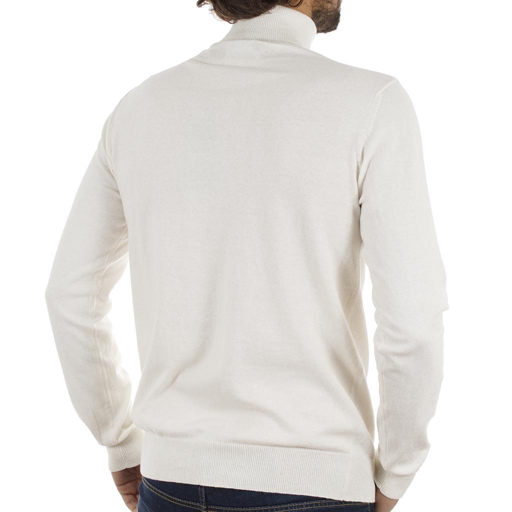 1de25d1ae18b Ζιβάγκο Πλεκτή Μπλούζα Garage55 GAM204-09218 Λευκό
